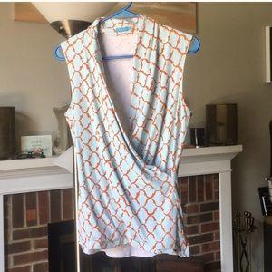 J. McLaughlin sleeveless blouse